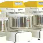 Spiral mixers with fixed bowl